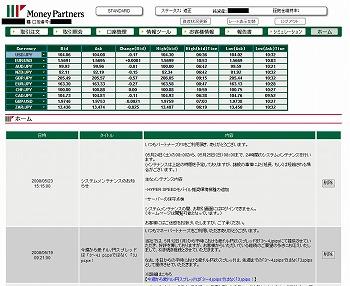 マネーパートナーズ取引画面3